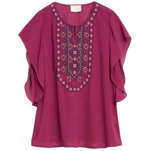 Skies are Blue Stitch Fix Dorian Embroidery Blouse